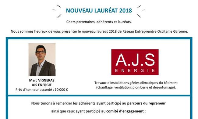Lauréat réseau entreprendre 2018 - Marc Vigneras